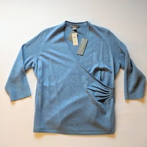 NWT Ann Taylor 100% Cashmere Blue Sweater XXL